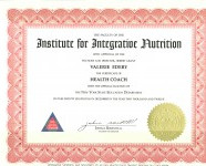 Diplome « Institute for integrative nutrition »